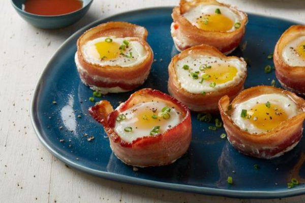 Eggs Bacon Cheese Cups